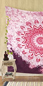 pink tapestry