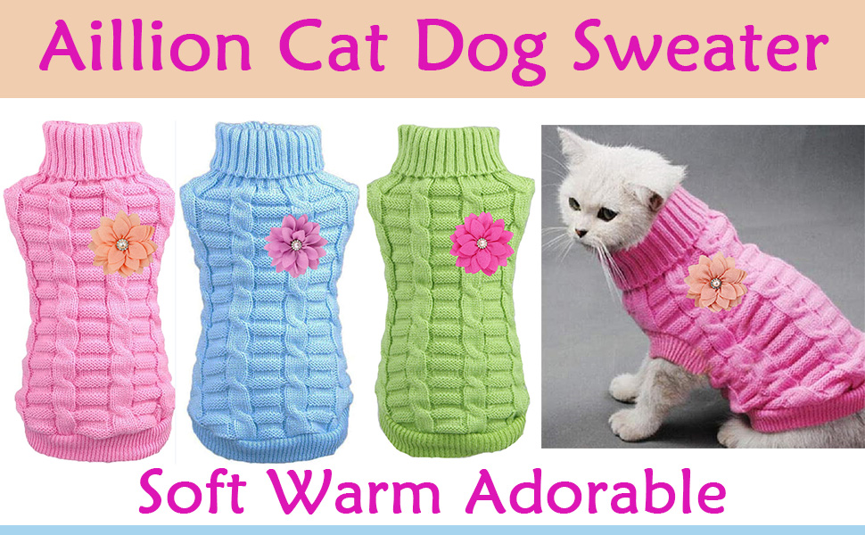 cat dog sweater