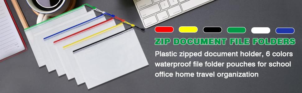 plastic ziplock file bag
