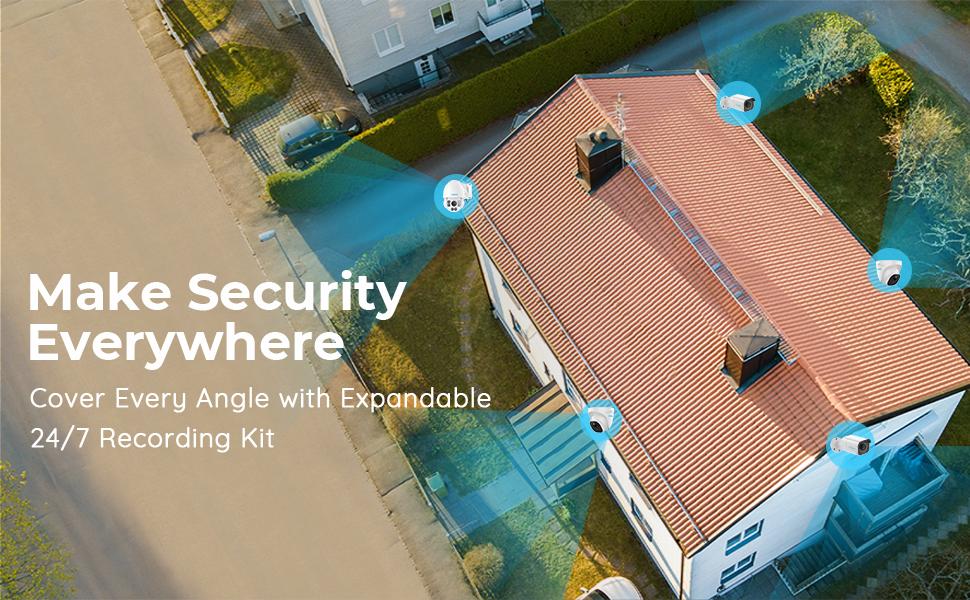 4K PoE Surveillance Security Camera System