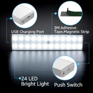 USB акумулаторна димируема светлина на шкафа