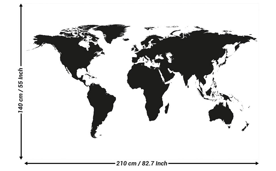 Cartina Geografica Del Mondo In Bianco E Nero.Great Art Fotomurale Mappamondo In Bianco E Nero Quadro Murale Decorazione Da Parete Globo Cartina Terra Continenti Atlante World Map Mondo Carta Da Parati 210 X 140 Cm Amazon It Casa E Cucina