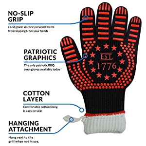 Extreme heat resistant gloves BBQ grilling gloves gloves oven gloves heat resistant 500 degrees