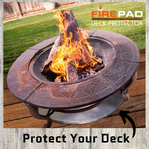 Amazon Com Newtex Firepad Deck Protector 24 Fire Pit High Temp Mat Heat Shield Protects Grass Patio Deck Fire Resistant Pad For Outdoors Bonfires Under Grill Mat Bbq Mat Made In Usa