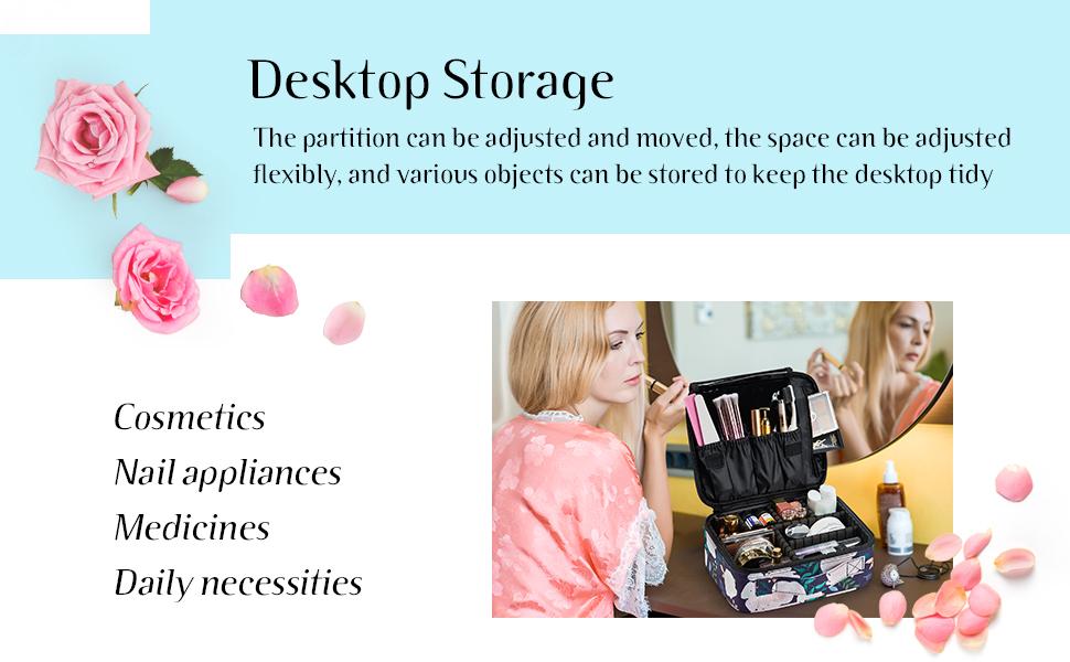makeup storage bag organizer