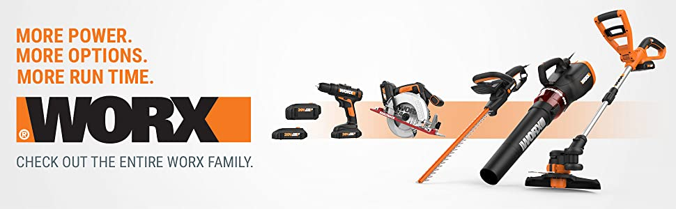 WORX WG547.3 20V 4.0Ah Cordless Turbine Leaf Blower with Gutter Pro Kit Battery and Charger Included
