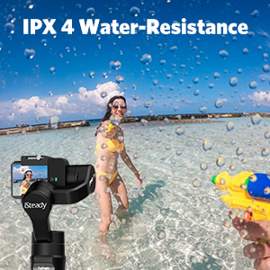gimbal stabilizer 3 axis for action camera GoPro water resistance handheld tripod for holiday video