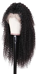 curly fake scalp wig