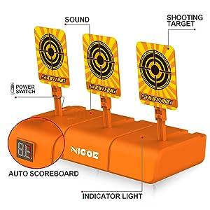 NIGOE electronic shooting targets is Easy to Play