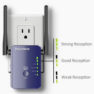 WiFi Range Extender -300Mpbs WiFi Repeater with WPS-2.4GHz Wireless Internet Signal Booster with High Gain Dual Antennas, Access Point/Repeater/Router ...