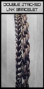 stacked stainless mens bracelet