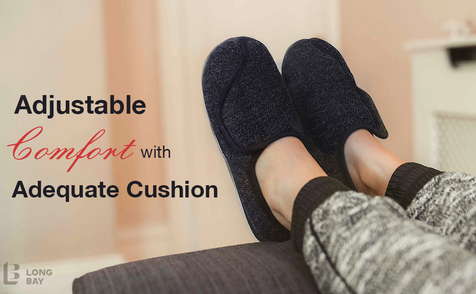 longbay womens diabetic slippers
