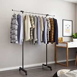 Single Rail Garment Rack