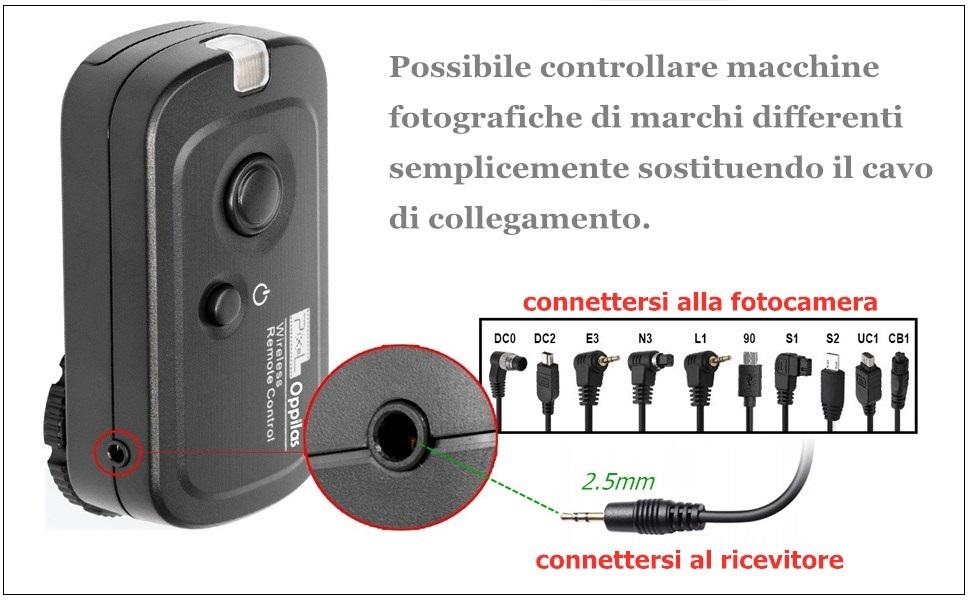 a7s a7r Cavo di collegamento trigger s2 Micro-USB 2,5mm JACK PER SONY Alpha a7