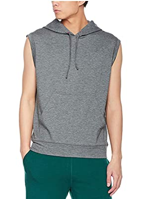 soft lightweight french terry sleeveless hoodie mens