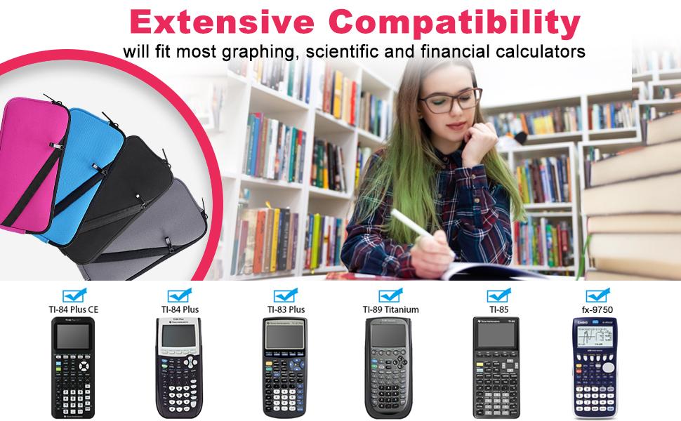 Texas Instruments Calculator Travel Zipper Bag