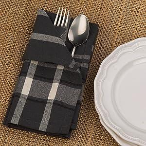 Cotton French Stipes napkin