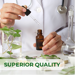 Produced with strict, exacting quality control to ensure the purity and potency of all ingredients.