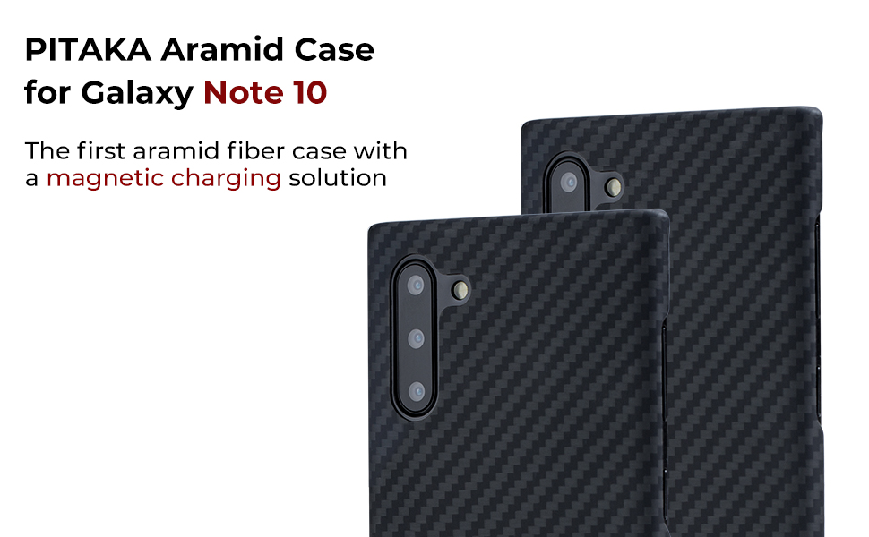 pitaka aramid fiber case for Samsung glaxy note 10 with magnetic charging solution