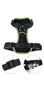 Dog Car Harness with Connector Strap