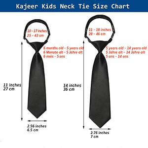 The size of necktie