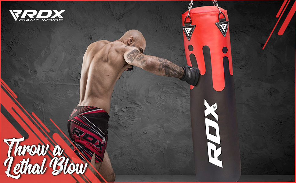 Punching Bag Set Kick Boxing Heavy MMA Training with Hanging Chain