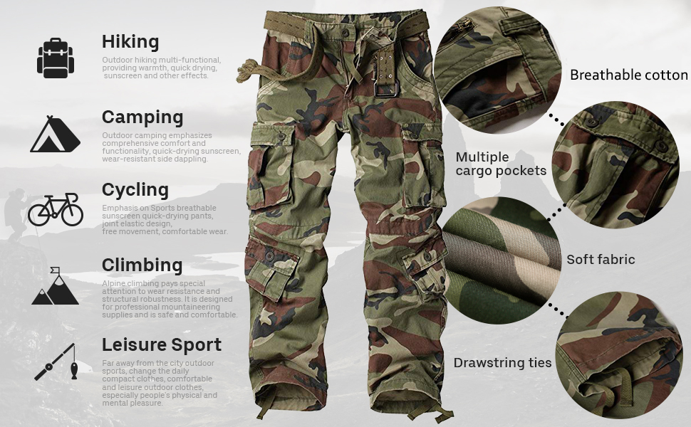cargo pants women Womens Outdoor Casual Military Tactical Wild Combat Cargo Work Pants with Pockets