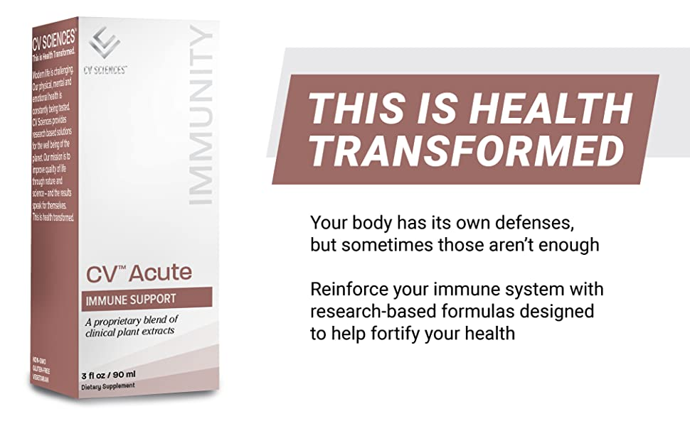 This is health transformed. Your body has its own defenses, but sometimes those aren't enough