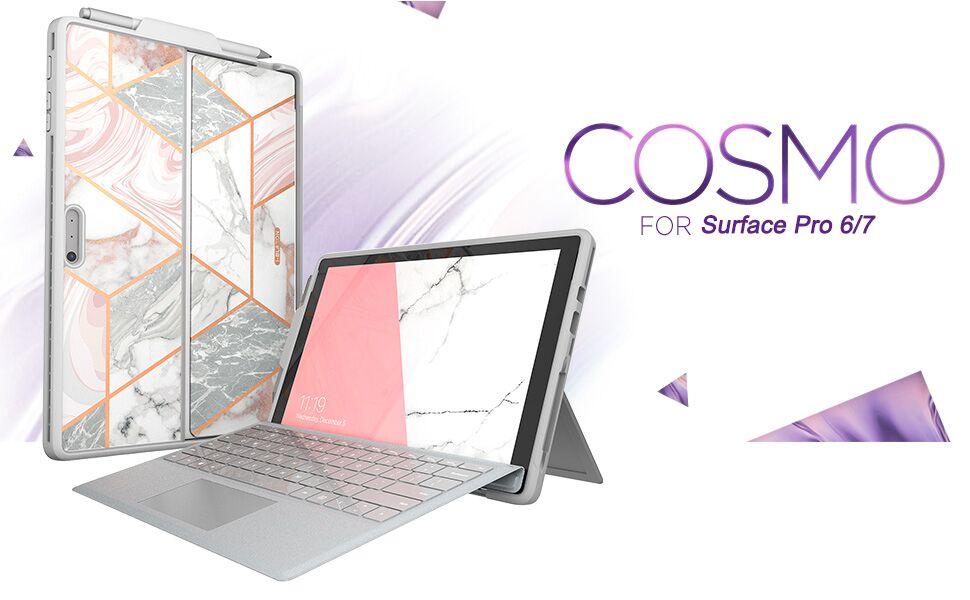 Surface Pro 5 / 6 Case i-Blason Cosmo Slim Glitter Protective Bumper Case Cover with Pen Holder