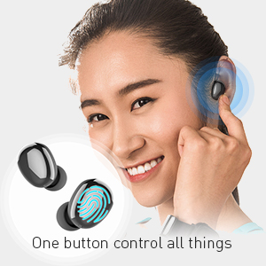 smart touch for true earbuds bluetooth 5.0