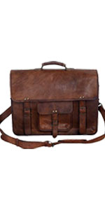 16 inch vintage Leather Briefcase