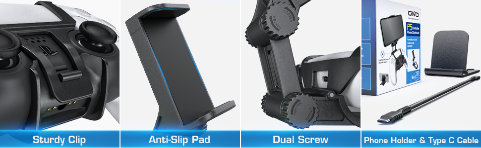PS5 Controller Clip Clamp Mount Holder