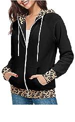 Leopard Print Hoodies Sweatshirt