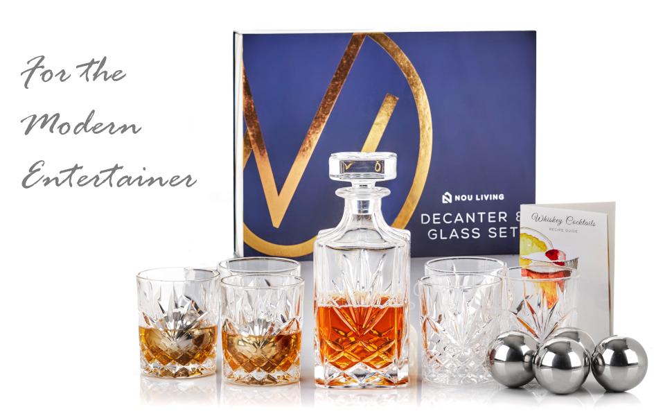 Bar Alcohol Glass Bormioli Rocco Capitol Whiskey Liquor Decanter Italian Made