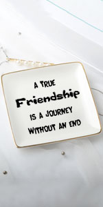 friendship gifts best friend present for birthday girls women sister jewelry tray ring dish plate