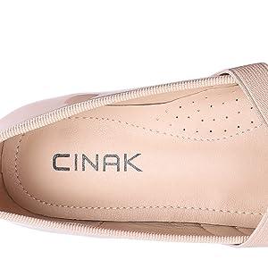 cinak women heels pumps ballet comfort low heel shoes