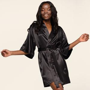 chick silk robe