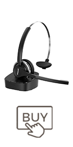 Mpow Bluetooth Headset with Charging Base
