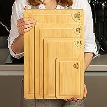 Extra large cutting board, cutting board set wood