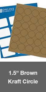 brown kraft circle round labels