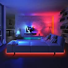 bedroom strip lights