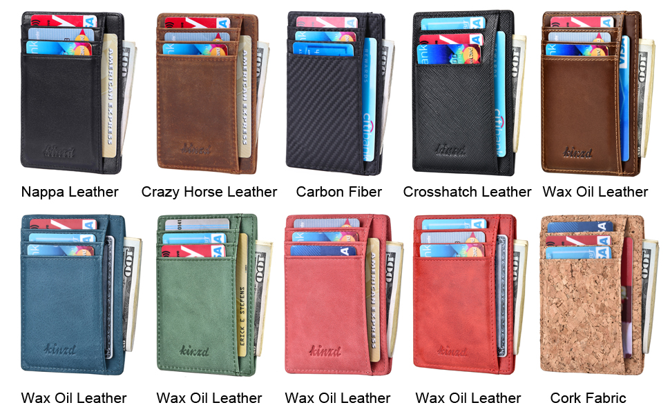 slim wallet thin credit card holder rfid small leather wallet compact wallets