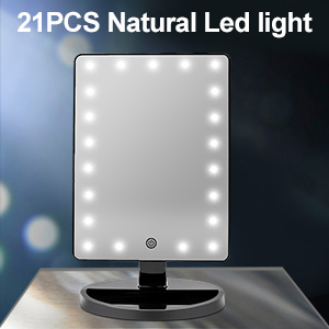 Light up mirror with 21 LED lights