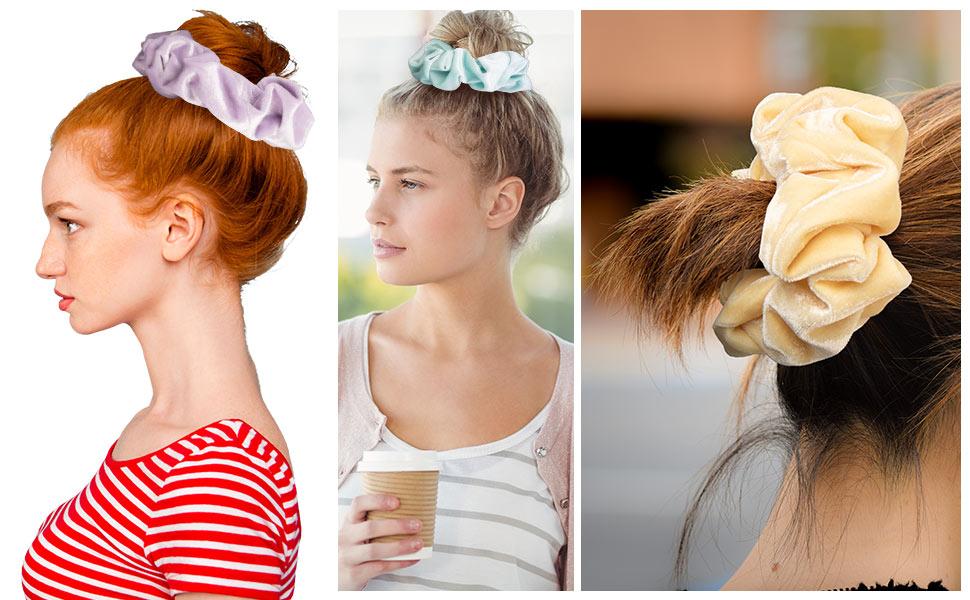 Blush Theme Hair Scrunchies Large