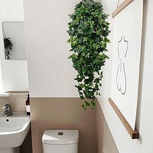 green silk ivy vine garland for boho house livingroom bedroom decoration