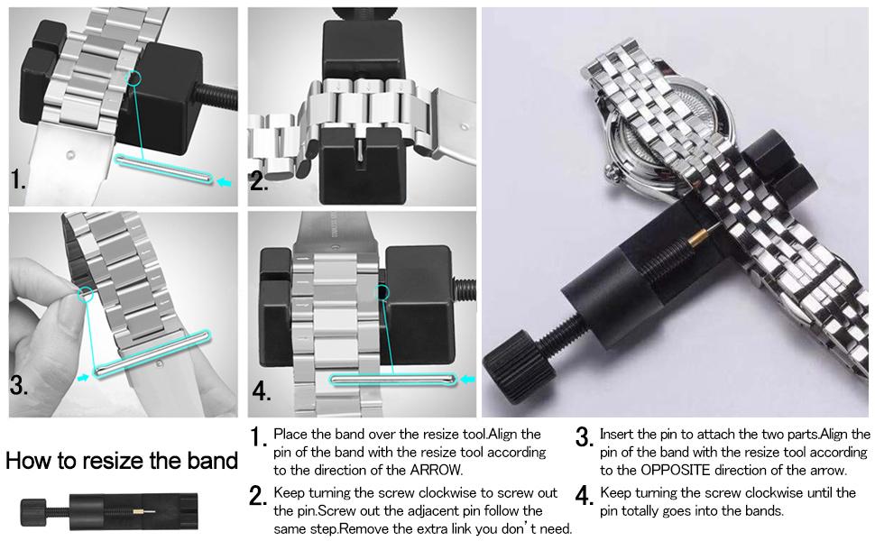 adjust watch band way