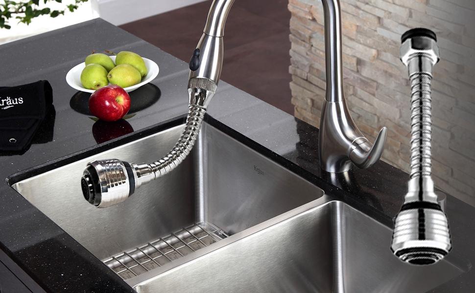 turbo flex 360 flexible faucet sprayer water extender