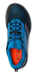 saucony mad river tr trail running shoe in blue