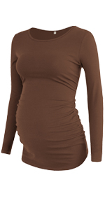 GLAMIX Women's Maternity Long Sleeve T-Shirt