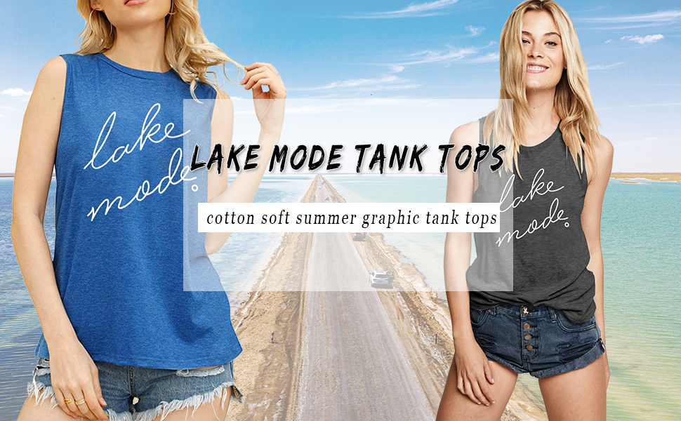 Lake Mode Womens Softstyle Racerback Tanktop